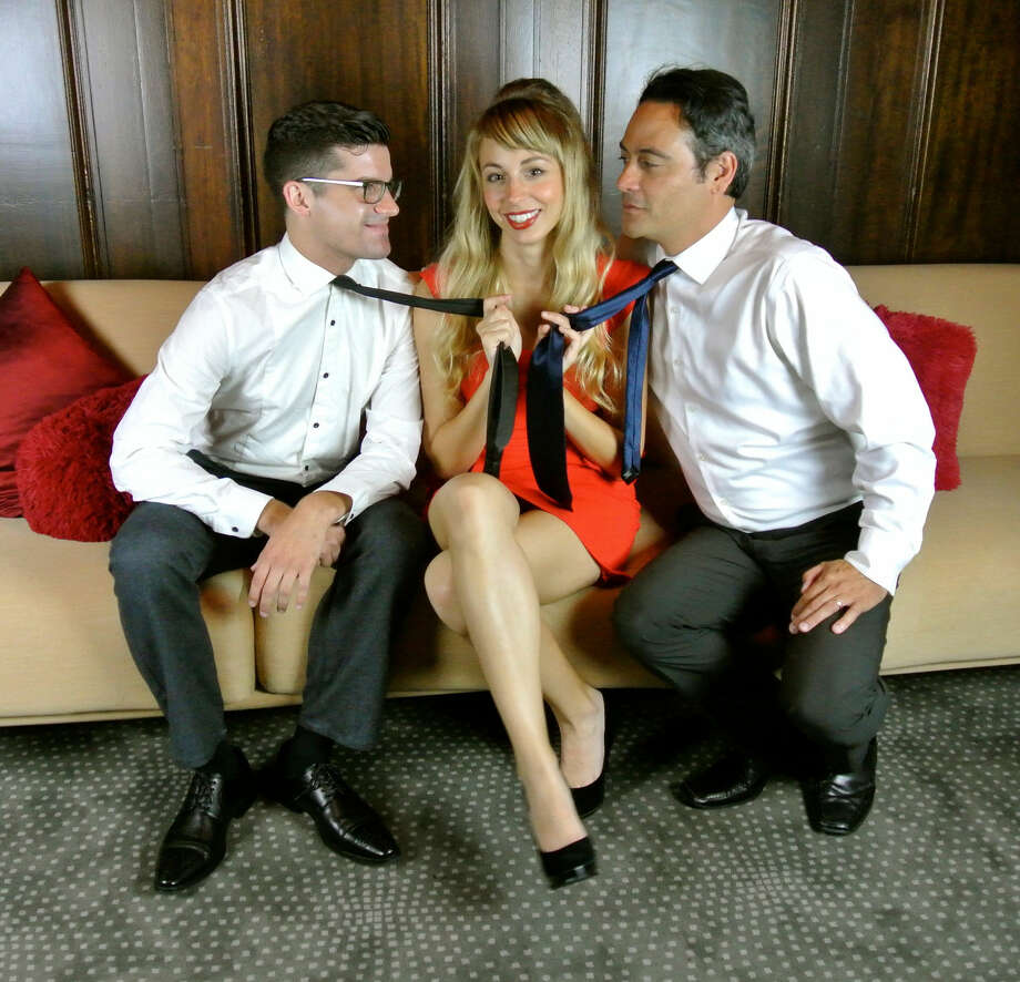 """Jeffrey Brian Adams, Monique Hafen and Johnny Moreno star in """"Promises, Promises"""" at S.F. Playhouse, opening Nov. 18. Photo: Lauren English / ONLINE_YES"""