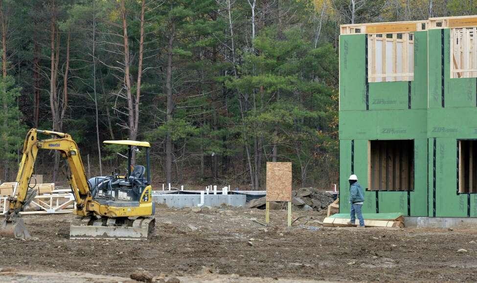 Construction has begun at developer David Bruns' NetZero Village project Tuesday Oct. 28, 2014, in Rotterdam,NY. (John Carl D'Annibale / Times Union)