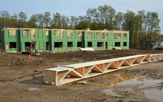 Construction has begun at developer David Bruns' NetZero Village project Tuesday Oct. 28, 2014, in Rotterdam,NY.  (John Carl D'Annibale / Times Union) Photo: John Carl D'Annibale / 00029234A