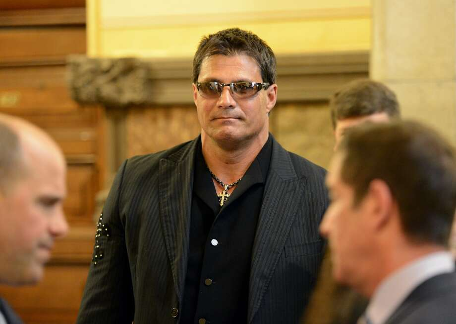 Former major league baseball player Jose Canseco arrives at the Capitol March 4, 2013 to speak to a Senate committee about the dangers of the drug DMAA and other performance enhancing drugs Photo: Skip Dickstein, ALBANY TIMES UNION