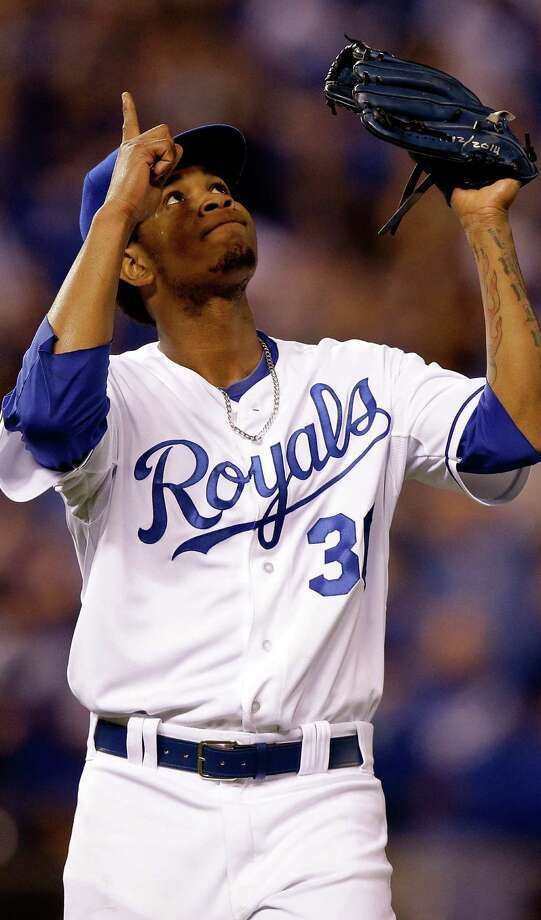 Yordano Ventura pitched seven shutout innings for the Royals, who forced a deciding Game 7 by pounding the Giants at Kauffman Stadium. Photo: Ezra Shaw / Getty Images / 2014 Getty Images