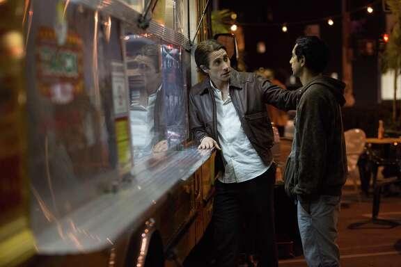 "Jake Gyllenhaal, left, and Riz Ahmed star in ""Nightcrawler."""