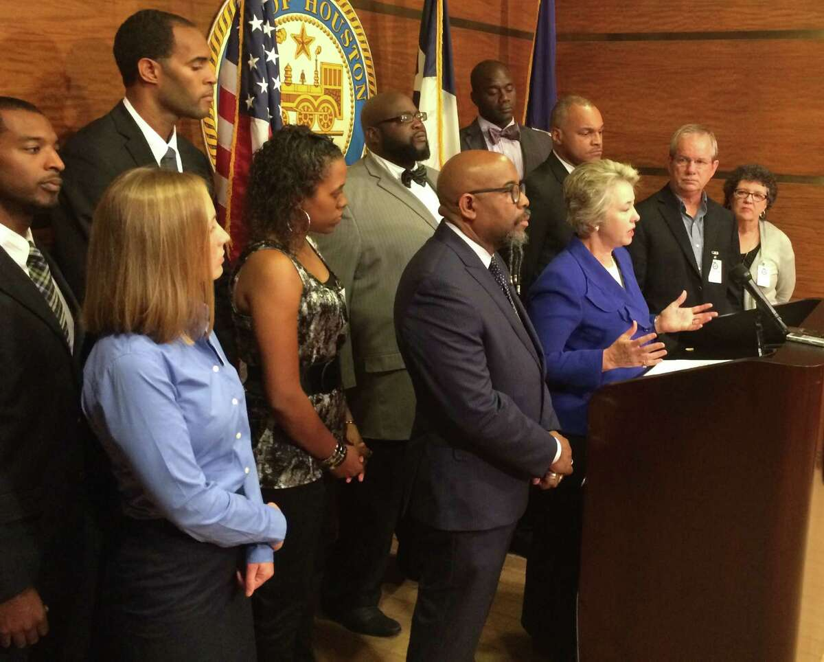 Mayor Annise Parker announces Wednesday morning that the city of Houston will withdraw subpoenas of five pastors in the lawsuit over the Houston Equal Rights Ordinance.