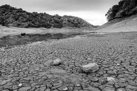 Effect of the drought on the Uvas Reservoir in Santa Clara County. (Photo courtesy of Don DeBold  via Flickr/Creative Commons )