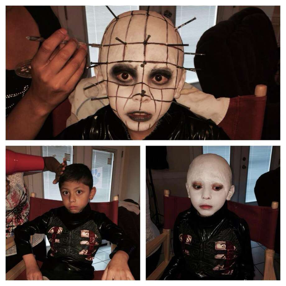 7-year-old Jordan Alexander Pinella is a second grade student in Houston that is already a die-hard horror fanatic with a devoted following of fans. He plans on being a horror movie director one day. Photo: Stephanie Garcia