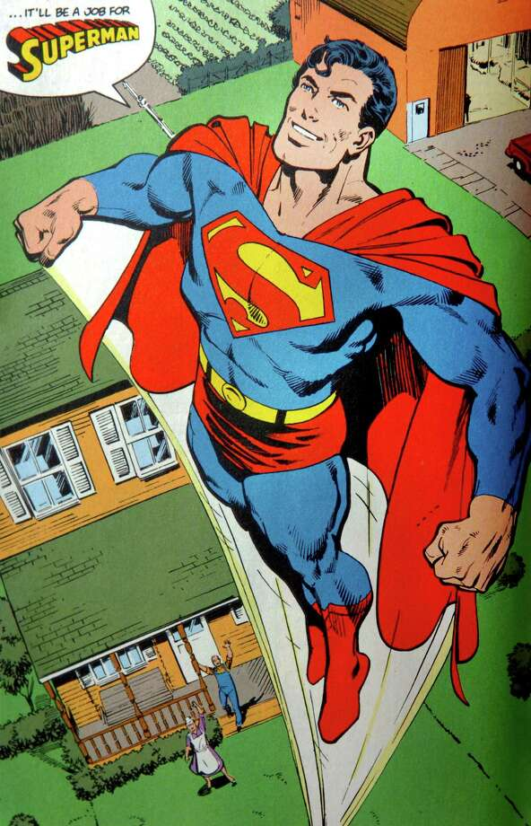 Superman, as drawn by long time Stratford resident Dick Giordano. Photo: Contributed Photo, ST / Connecticut Post Contributed