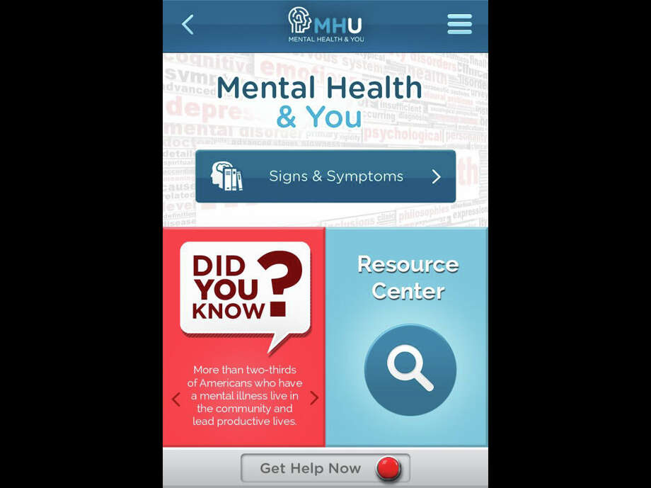 Th MHU smartphone app was created in response to recent national shooting tragedies involving individuals with severe, untreated mental illness. Although friends and family members knew these individuals were ill, they were unsure of what to do or how to help. MHU was designed specifically for this purpose – to educate the public about the signs and symptoms of mental illness, and provide local and national resources for early intervention and treatment. Photo: Screen Shot Courtesy Of The Cent