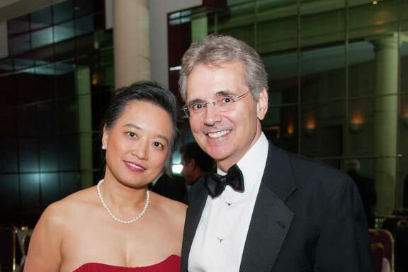 Dr. Lynda Chin and Dr. Ronald DePinho at Houston Grand Opera's Opening Night Dinner.