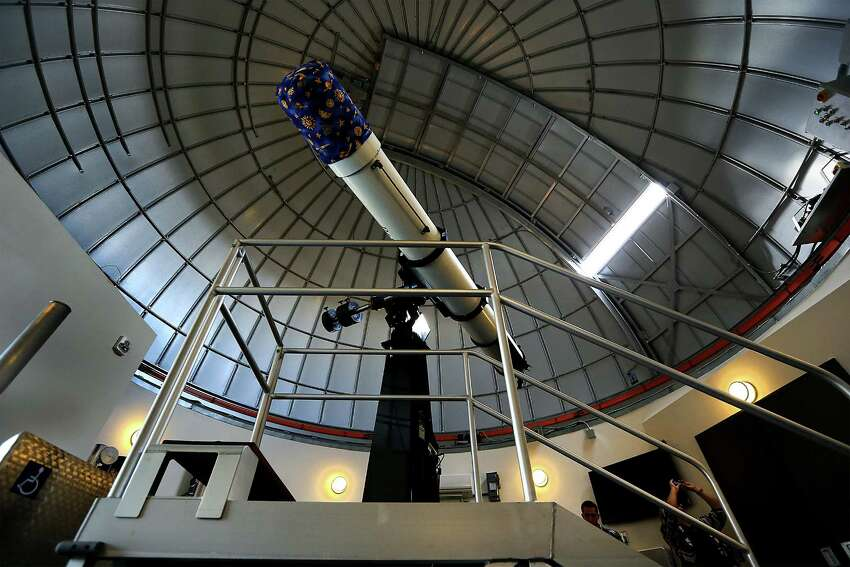 The telescope in the remodeled Scobee Observatory at San Antonio College is part of the Challenger Learning Center that will open this weekend. Wednesday, Oct. 29, 2014.