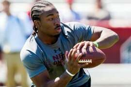 Marcus Lattimore catches a pass at the NFL combine (USATI)