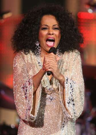OSLO, NORWAY - DECEMBER 11:  Diana Ross performs at the Nobel Peace Prize Concert 2008 at the Oslo Spektrum on December 11, 2008 in Oslo, Norway. The Norwegian Nobel Committee yesterday awarded the Nobel Peace Prize for 2008 to Martti Ahtisaari for his efforts to resolve international conflicts. Actors Michael Caine and Scarlett Johansson are hosting the gala event which features performances from Diana Ross, operatic quartet Il Divo and Swedish singer-songwriter Robyn.  (Photo by Chris Jackson/Getty Images) *** Local Caption *** Diana Ross Photo: Chris Jackson, Getty Images / 2008 Getty Images