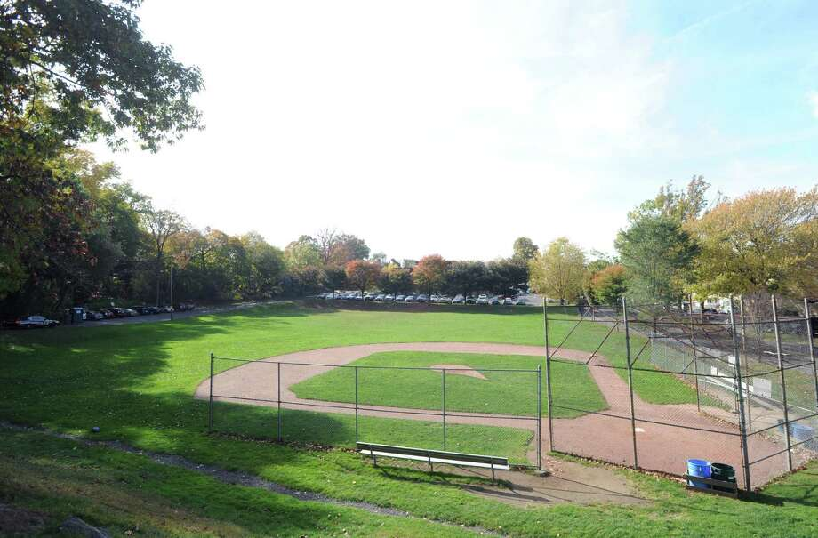 The William Street field in the Byram section of Greenwich, Conn., Tuesday, Oct. 28, 2014. Byram resident, Rich Jackson, who recently resigned from the RTM, is a proponent of building a new campus for New Lebanon School on the William Street field. Photo: Bob Luckey / Greenwich Time
