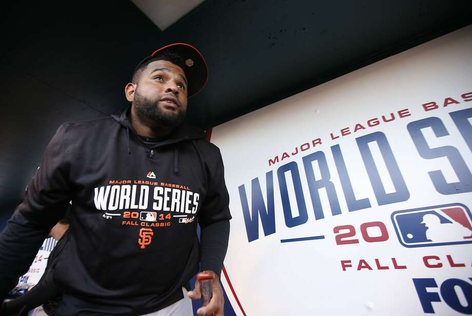 Giants' Pablo Sandoval heads out to batting practice, as the San Francisco Giants prepare to take on the Kansas City Royals in game seven of the World Series at Kauffman Stadium in Kansas City, Mo. on Tuesday Oct. 28, 2014. Photo: Michael Macor, The Chronicle