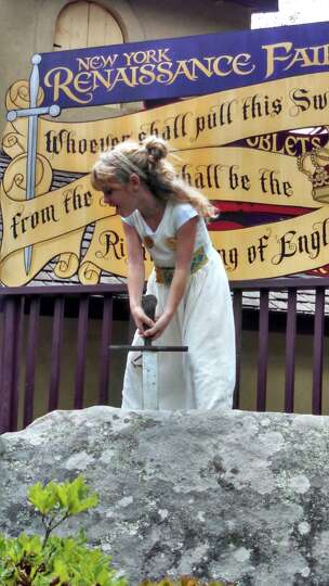 Girl Power Emma Burick 10, attends the New York Renaissance Faire in Tuxedo N.Y. in August. She gave
