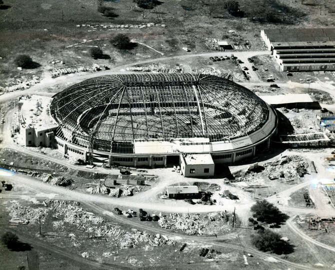 Here 39 s the freeman coliseum under construction in 1949 for San antonio christmas craft show freeman coliseum