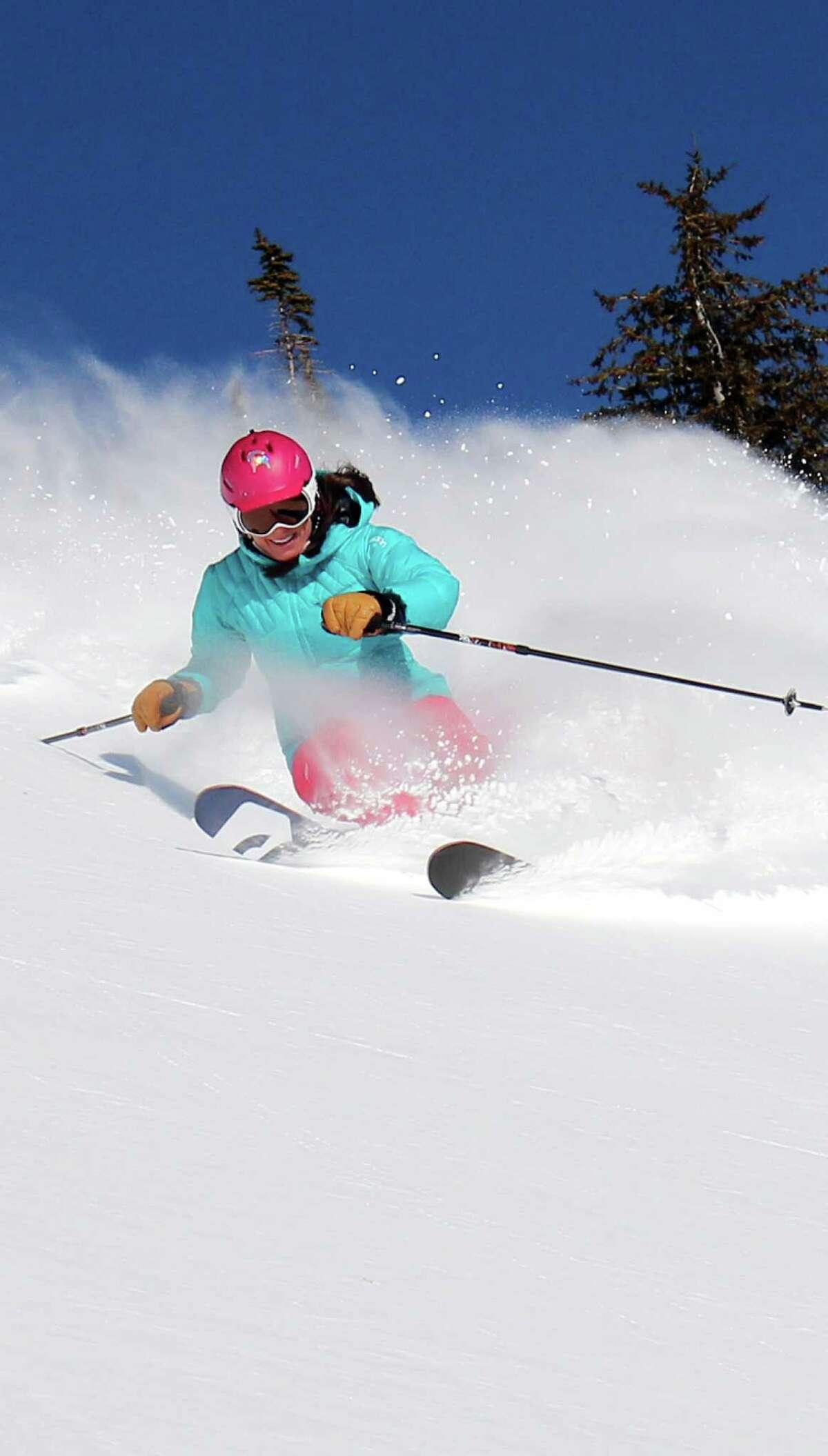Elevate Women's Ski Camp allows participants opportunities to improve technique among Jackson Hole's difficult terrain.