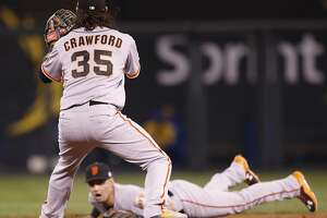Joe Panik's Series-saving flip echoed Jeter's - Photo