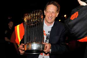 Larry Baer shows off trophy, says 'We're not done' - Photo