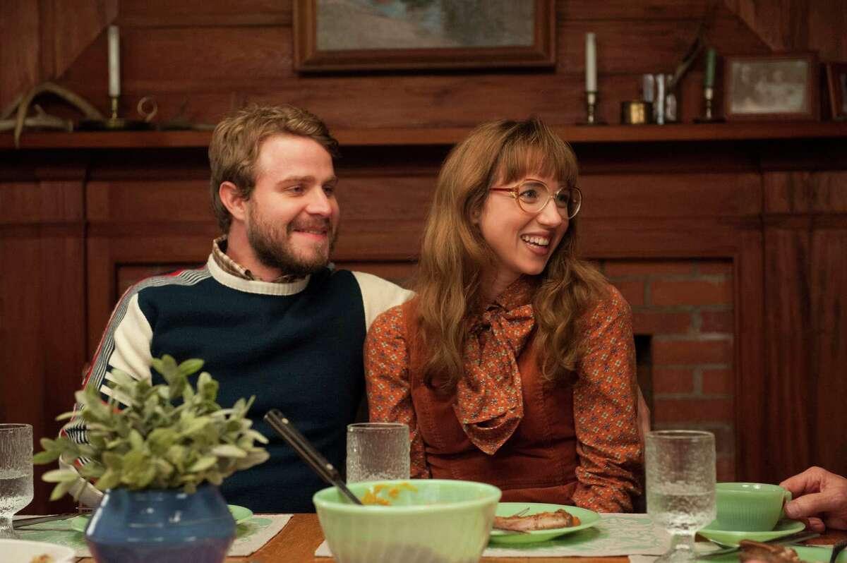 "Brady Corbet and Zoe Kazan star as Henry Thibodeau and Denise Thibodeau in the new HBO mini-series ""Olive Kitteridge."" (Jojo Whilden/MCT)"
