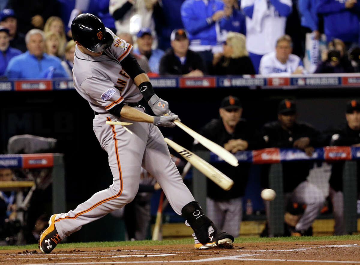 Jersey worn by Giants' catcher Buster Posey in Game 7