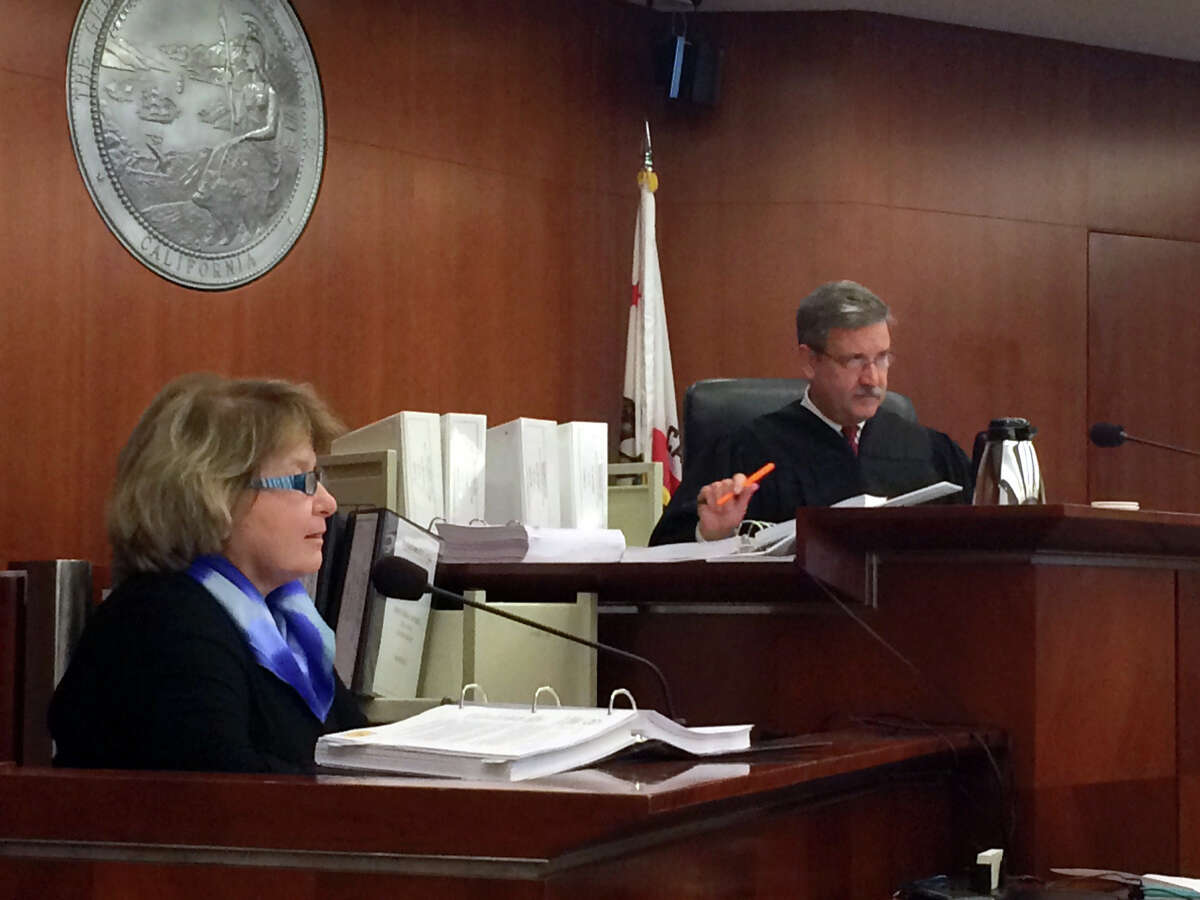 Barbara Beno, president of the accrediting commission being sued by the city of SF, testifies at the trial presided over by Superior Court Judge Curtis Karnow
