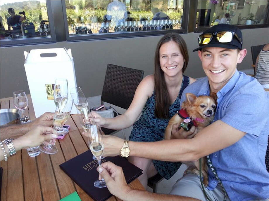1.     UPTick Vineyards, Healdsburg (Sonoma) - Visit Muttville success story Mozart, UPTick's resident senior mutt, while sipping award winning wines on the patio at UPTick Vineyards tasting room in Healdsburg.  Photo: Muttville Senior Dog Rescue, Patty Stanton, And Russell Ulrey