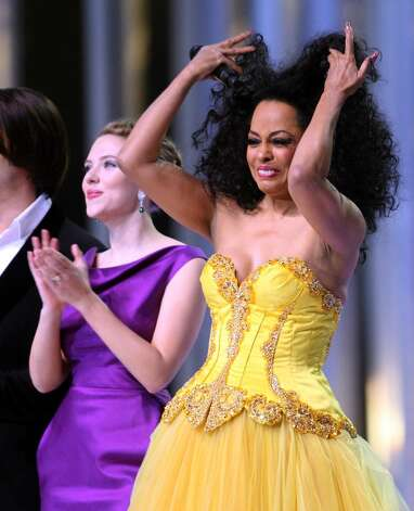 OSLO, NORWAY - DECEMBER 11:  Actress Scarlett Johansson and Diana Ross dance on stage at the Nobel Peace Prize Concert 2008 at the Oslo Spektrum on December 11, 2008 in Oslo, Norway. The Norwegian Nobel Committee yesterday awarded the Nobel Peace Prize for 2008 to Martti Ahtisaari for his important efforts to resolve international conflicts. Actors Michael Caine and Scarlett Johansson are hosting the gala event which features performances from Diana Ross, operatic quartet Il Divo and Swedish singer-songwriter Robyn.  (Photo by Chris Jackson/Getty Images) *** Local Caption *** Scarlett Johansson;Diana Ross Photo: Chris Jackson, Getty Images / 2008 Getty Images