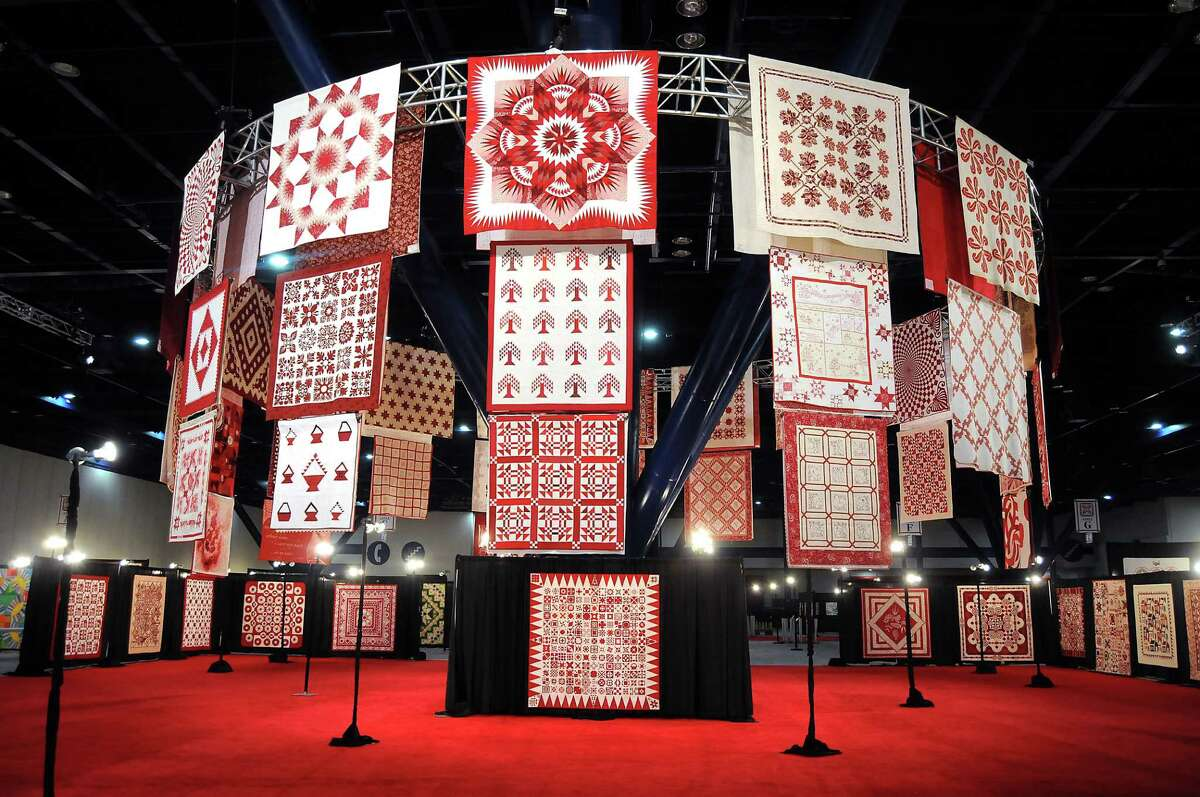 The Red & White quilt exhibit at the International Quilt Festival at the George R. Brown Convention Center Friday Oct 24, 2014.(Dave Rossman photo)