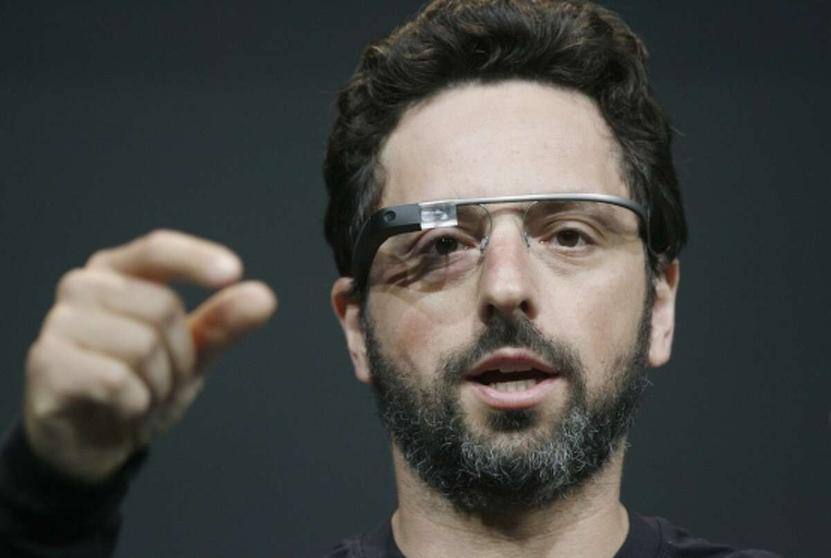 Google's Sergey Brin shows off Glass when it was released in 2012.