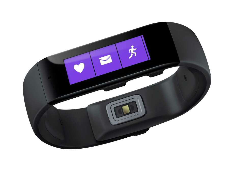 This product image provided by Microsoft shows the Microsoft Band. Microsoft is looking to challenge Apple and Google with its own system for consolidating health and fitness data from various fitness gadgets and mobile apps. The company is releasing the $199 band to work with this system. (AP Photo/Microsoft) Photo: Uncredited / Associated Press / Microsoft