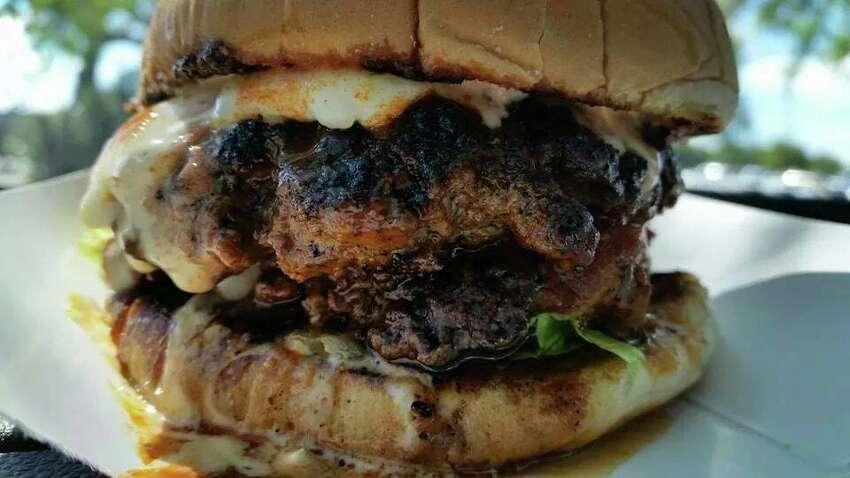 Cheese burger at Crazy Carl's.