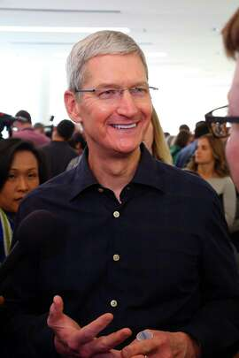 Tim Cook, Apple's chief executive became by far the most prominent executive of a public company to come out.