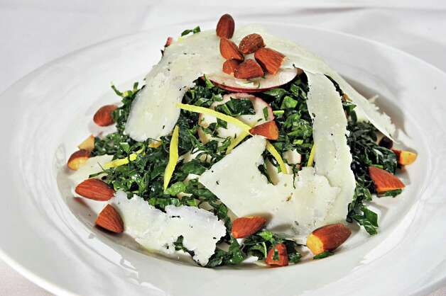 Kale and apple salad at Next Door Kitchen & Bar on Front Street Tuesday Oct. 28, 2014,in Ballston Spa, NY.  (John Carl D'Annibale / Times Union) Photo: John Carl D'Annibale / 00029223A