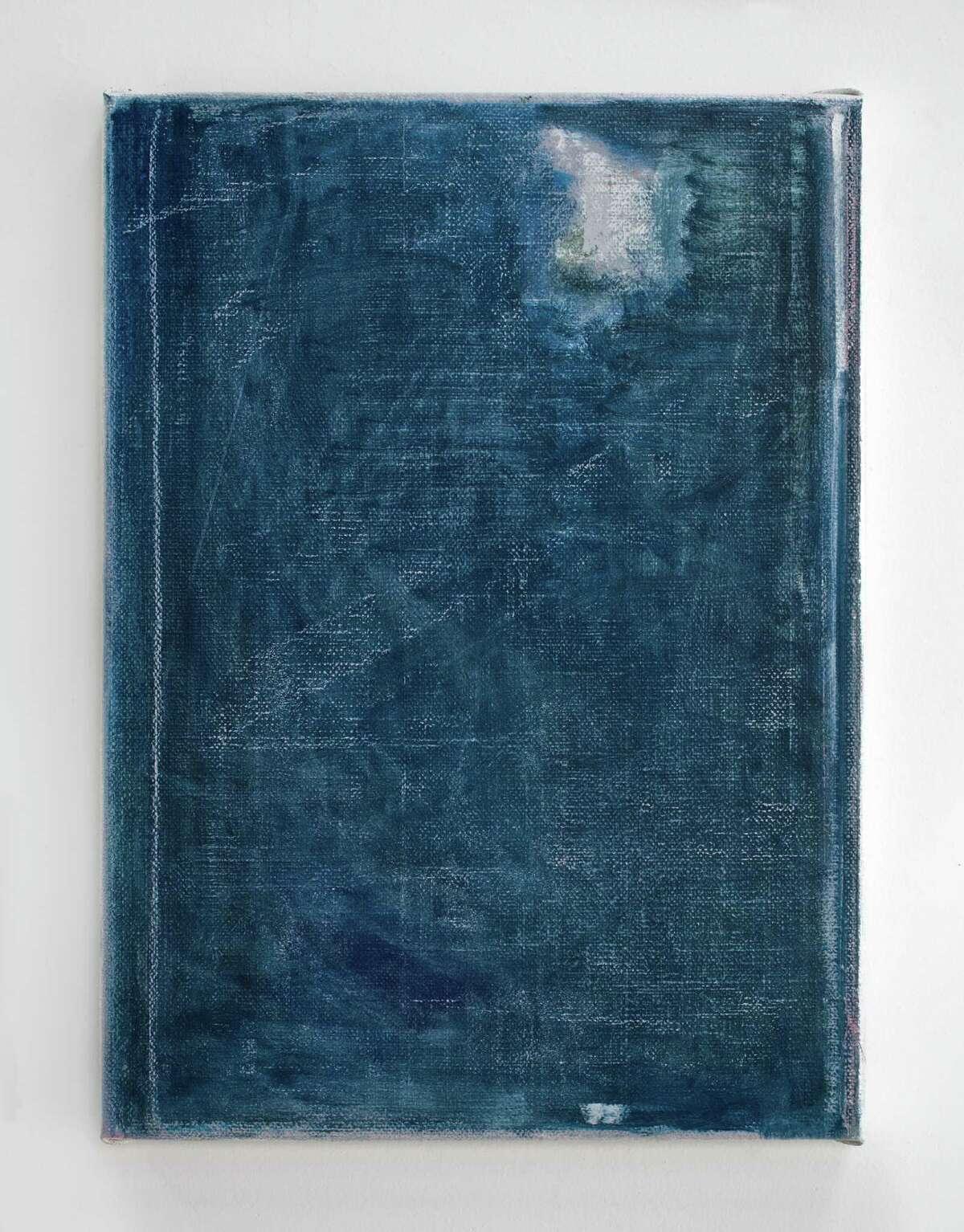 """""""He?raðsdalur 16 (Listening to Grieg)"""" (2014) oil on jute by John Zurier"""