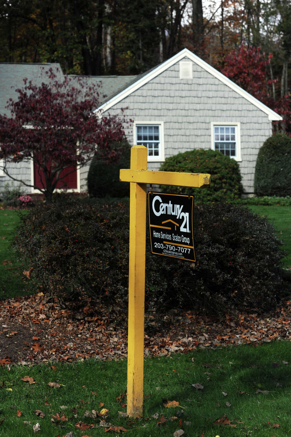 A home for sale on Patricia Lane, in Newtown, Conn. Oct. 30, 2014.