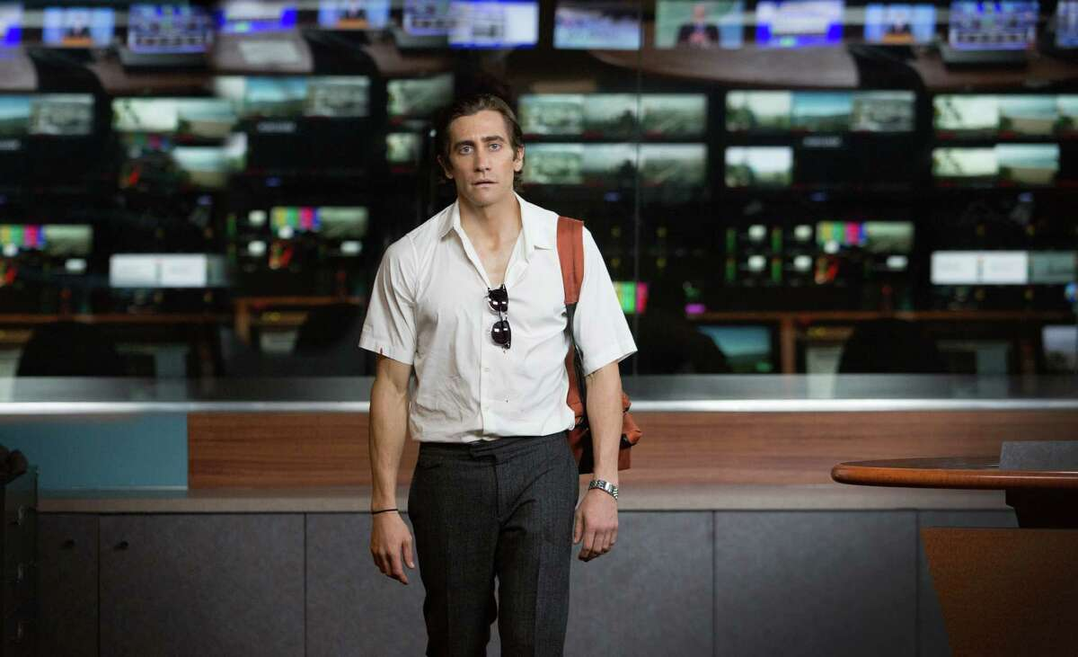 """In this image released by Open Road Films, Jake Gyllenhaal appears in a scene from the film, """"Nightcrawler."""" (AP Photo/Open Road Films, Chuck Zlotnick) ORG XMIT: NYET304"""