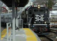 The 5:15 p.m. Metro-North train pulls into the Danbury Train Station Friday afternoon, March 14, 2014.