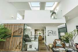 Two skylights welcome natural light into the great room.