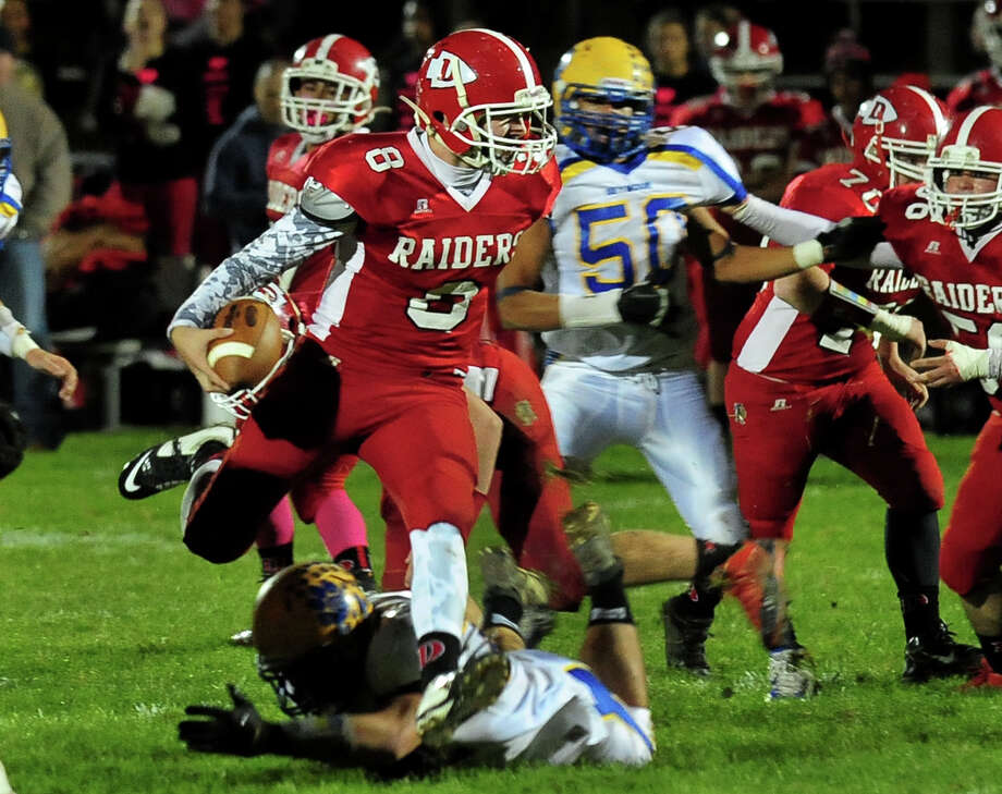 Went 12-of-18 passing for 314 yards, 3 TDs and 1 interception in a 62-44 win over Seymour. Ricky Bartone (123 yards and 3 touchdowns on 24 carries) and Josh Park (3 running TDs) also had big games for the Red Raiders. Photo: Christian Abraham / Connecticut Post