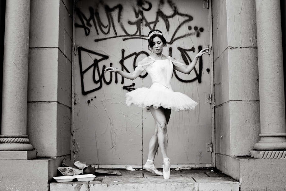Carla Escoda, of Ballet to the People, on Haight Street in San Francisco. Photo: Charlie Homo / Charlie Homo / ONLINE_YES