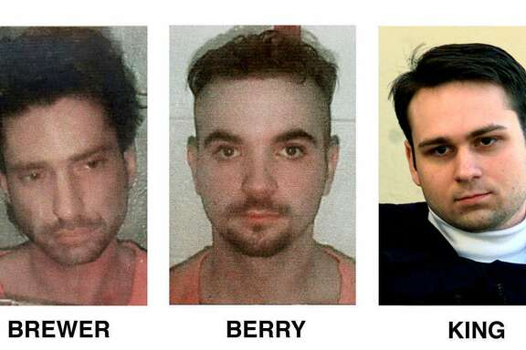 FILE--Three suspects in the slaying of James Byrd Jr., in Jasper, Texas, on June 7, 1998, are shown in file photos. From left, are: Lawrence Russell Brewer, 31, of Sulphur Springs, Texas; Shawn Berry, 24, of Jasper; and John William King, 24, of Jasper. King was convicted of murder Tuesday, Feb. 23, 1999, and could get the death penalty in the dragging slaying last June of Byrd.  King's alleged accomplices, Berry and Brewer, are awaiting trial and could also face the death penalty. (AP Photo/File)