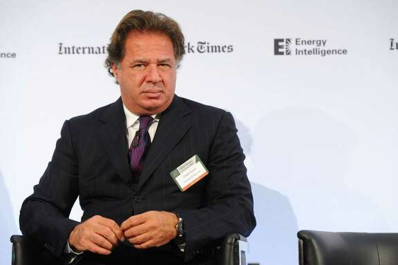 LONDON, ENGLAND - OCTOBER 30:  Charif Souki from Cheniere Energy, appears on stage during the INYT/Energy Intelligence Oil & Money Conference - Day 2 on October 30, 2014 in London, England.  (Photo by Anthony Harvey/Getty Images for The New York Times)