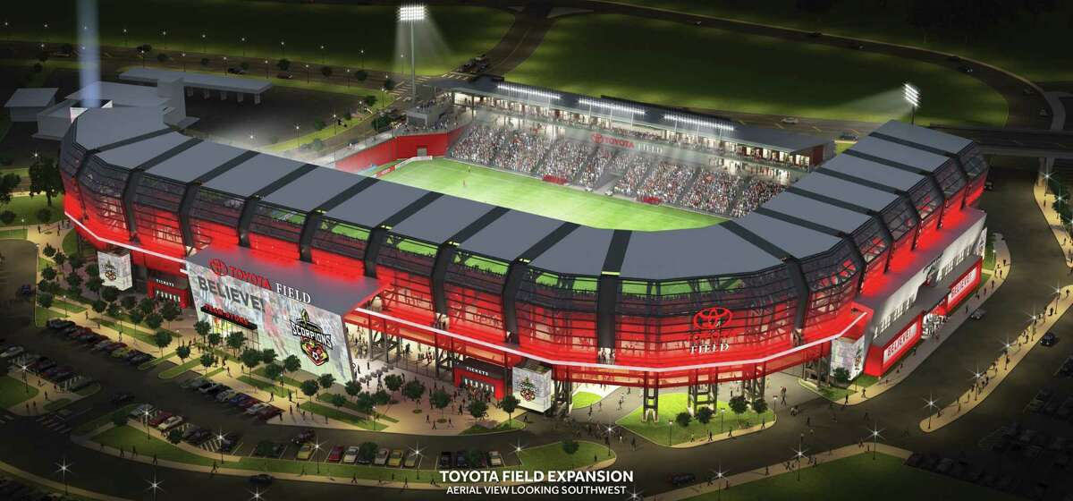 A Toyota Field expansion proposed in September would add 10,000 seats to the existing 8,000, with 9,000 of the new seats on a new upper tier.