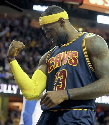 LeBron James was feeling his oats early before the Knicks stole his thunder.  Photo: PHIL MASTURZO, MBR / Akron Beacon Journal