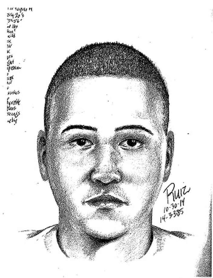 Police are looking for three suspects in an early morning sexual assault in Menlo Park on Oct. 30, 2014. A witness description yielded this sketch of one of the attackers. Photo: Menlo Park Police / ONLINE_YES