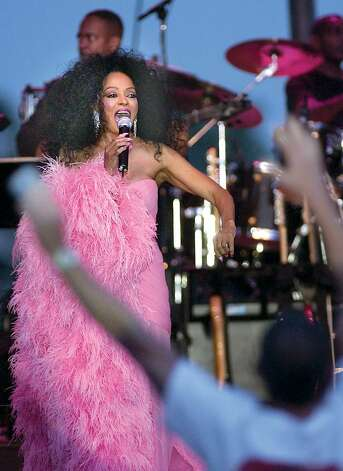 6-24-2004, ROGER SHERMAN BALDWIN PARK, Diana Ross during concert at RSB Park, Greenwich, Thursday evening........PHOTO/LUCKEY....... Photo: File Photo / Greenwich Time File Photo