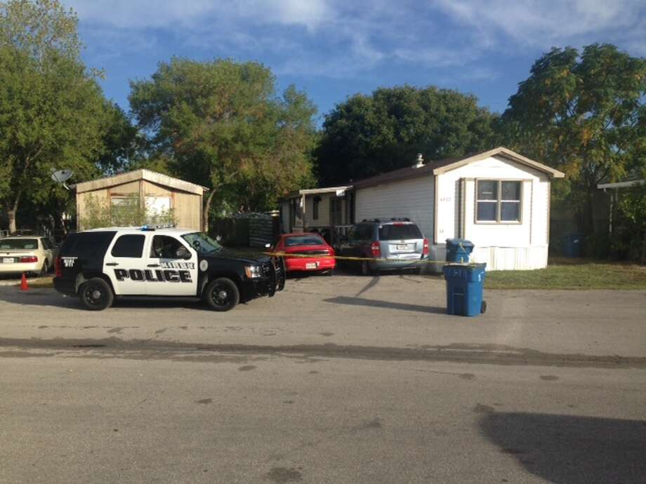 A Kirby man died Friday morning after being hit with a shotgun blast at a mobile home park on the Northeast Side. 