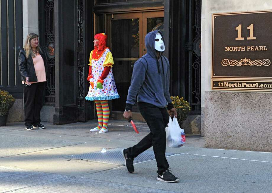 Just a typical street scene outside 11 North Pearl on a brisk Halloween day Friday, Oct. 31, 2014 in Albany, N.Y.  (Lori Van Buren / Times Union) Photo: Lori Van Buren