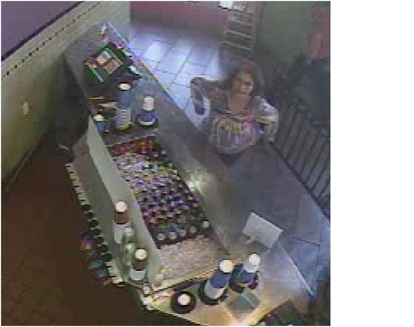 Crime Stoppers synopsis: On Thursday October 16, 2014 the victim accidentally left her purse at the restaurant. Someone turned the purse to the restaurant staff. The suspect had been at the restaurant and possibly seen the victim leave the purse. She went to the restaurant counter and asked if anyone had found a purse, leading the staff to believe she was the purse's owner. The staff gave the suspect the purse and she left the location with the purse. Location: 7339 San Pedro Needed to solve case:Identifying information and location of the suspect wanted for the felony theft. Reward: $5,000 Contact San Antonio Crime Stoppers with any information related to this crime at 224-STOP (224-7867).