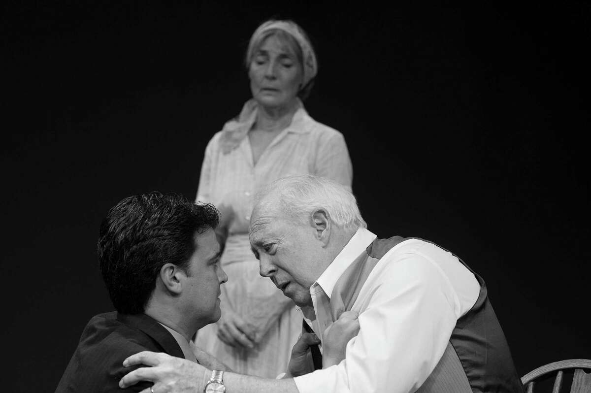 Terri Peña Ross (clockwise from top), Allan S. Ross and Anthony Ciaravino starred in Classic Theatre's staging of